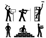 Set builders outline vector Royalty Free Stock Image
