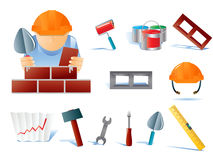 Set of builders tools Royalty Free Stock Image