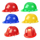 Set of building helmet on a white background Royalty Free Stock Image