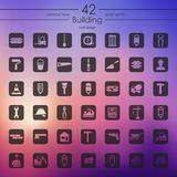 Set of building icons. It is a set of building icons Royalty Free Stock Photos