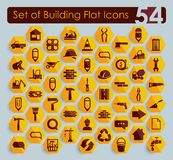 Set of building icons Royalty Free Stock Images