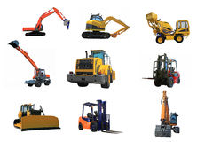 Set of a building machines Royalty Free Stock Image