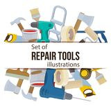 Repair tool illustration Stock Image