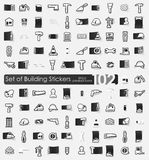 Set of building stickers Stock Photo