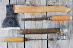 Set building tools Royalty Free Stock Photo