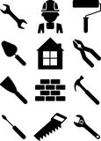 Set of building tools 01 Royalty Free Stock Image