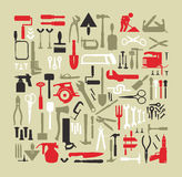 Set building tools Royalty Free Stock Image