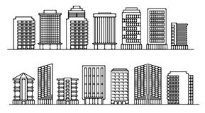Set buildings for office. Set of buildings for office vector illustration