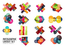 Set of buiness infographics templates Stock Photo