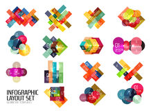Set of buiness infographics templates Stock Images