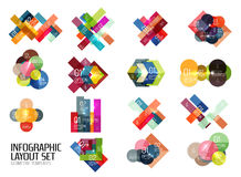 Set of buiness infographics templates Royalty Free Stock Photo