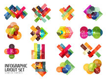 Set of buiness infographics templates Royalty Free Stock Image