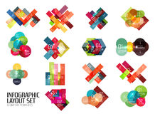 Set of buiness infographics templates Stock Photography