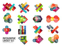 Set of buiness infographics templates Stock Image
