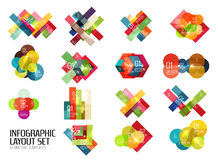 Set of buiness infographics templates Royalty Free Stock Images