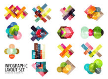 Set of buiness infographics templates Royalty Free Stock Photos