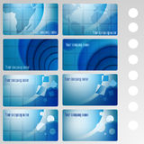 Set of buisness card blue Royalty Free Stock Photo