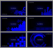 Set of buisness card blue Royalty Free Stock Photography