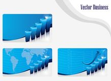 Set of buisness card blue Stock Photography