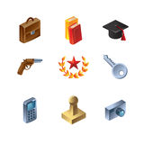 Set of buisness icons. Vector illustration Stock Images