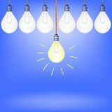 Set of Bulbs Royalty Free Stock Images