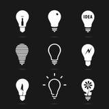 Set bulbs symbol Royalty Free Stock Image