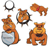 Set of Bulldog cartoons Royalty Free Stock Photo