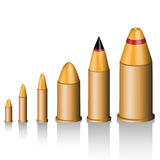Set of bullets Stock Image