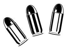 Set of bullets for pistol royalty free illustration