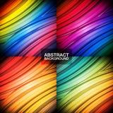 Set bunte abstrakte Hintergründe Stockfotografie