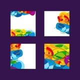 Set bunte abstrakte Hintergründe Lizenzfreie Stockfotos