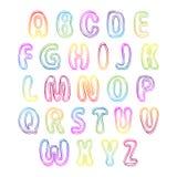 Set bunte Zeichen Alphabet für Ihr Design lizenzfreie abbildung