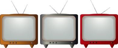 Set bunten Fernsehapparates lizenzfreie abbildung