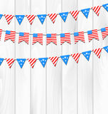 Set Bunting Pennants Stock Photos