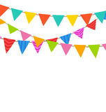 Set Bunting Pennants with Ornamental Texture Royalty Free Stock Photography