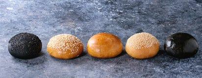 Set of burger buns Royalty Free Stock Photo