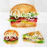 Set Burger Stock Photo