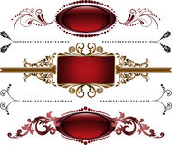 Set of burgundy frame Royalty Free Stock Photo