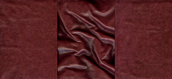Set of burgundy leather textures Royalty Free Stock Photos
