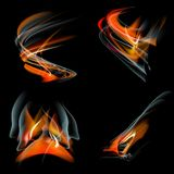 Set Burn flame fire vector abstract background Stock Image
