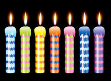 Set of burning candles Royalty Free Stock Images
