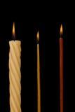 Set of Burning candles Stock Photos