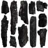 Set of Burnt bark tree Royalty Free Stock Images