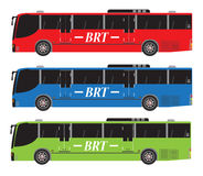 Set of Bus Rapid Transit or BRT Stock Images