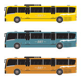 Set of Bus Rapid Transit or BRT Royalty Free Stock Photography