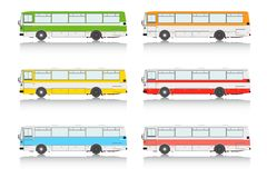 Set bus on a white background. Stock Photo