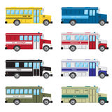 Set of buses of emergency services. Royalty Free Stock Image