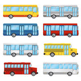 Set of buses. Royalty Free Stock Images