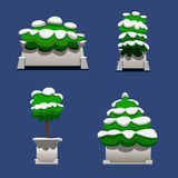Set of bushes Stock Images