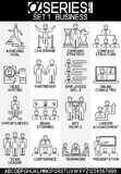 Set of Busines icons leadership Royalty Free Stock Photo